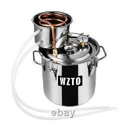 3 GAL 2POTS Moonshine Alcohol Distiller Copper Wine Maker Water Still Boiler UK
