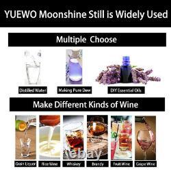 3 POTS 10-30L Home Distiller Moonshine Still Whisky Water Alcohol Oil Brewing