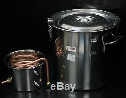 3 Pot 5 Gallon Water Wine Alcohol Distiller Moonshine Still Boiler Stainless Pot