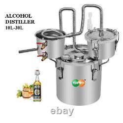 3 Pots 10-30L Moonshine Still Alcohol Vodka Distiller Essential Oil Water DIY