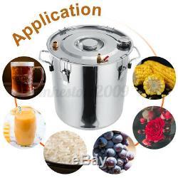 3 Pots 2-8 Gal Copper Alcohol Distiller Moonshine Ethanol Still Water DIY Boiler