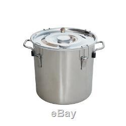 3 Pots 3 Gal Alcohol Distiller Moonshine Still Boiler 12L Stainless Steel Copper