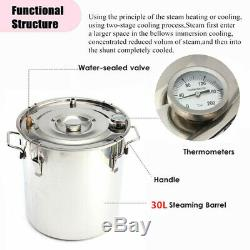 3 Pots 35L Copper Distiller Alcohol Moonshine Spirits Water Oil With Thumper keg