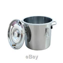 3 Pots 5 Gal Alcohol Distiller Moonshine Still Boiler 20L Stainless Steel Copper