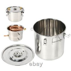 3 Pots 8 Gal Alcohol Distiller Moonshine Still Boiler Stainless Steel Copper UK