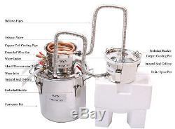 3 Pots Copper Distiller 20L-70L Moonshine Spirits Still Water Alcohol Water Oil