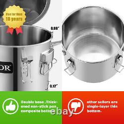 3 Pots Home Alcohol Distiller Moonshine Still Boiler Stainless Copper 3 Gal 12L