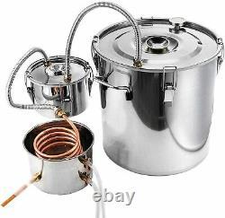 3 Pots Home Alcohol Distiller Moonshine Still Boiler Stainless Copper 5 Gal 20L