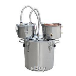 3 Pots Home Alcohol Distiller Moonshine Still Boiler Stainless Copper 8 Gal 30L