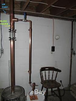 3 in 1 Copper E85 moonshine still alcohol VM LM reflux pot still