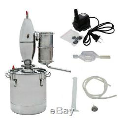 30 Liters Alcohol Distiller Home Brewing Kit Moonshine Still Wine Spirits Boiler