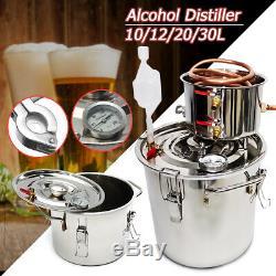 30L 8Gal Stainless Alcohol Distiller Water Still Wine Making Wine Boiler DIY Set
