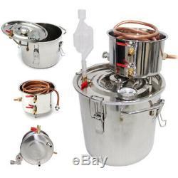 35L Alcohol Distiller Stainless Steel Moonshine Copper Still Water Home Brew Kit