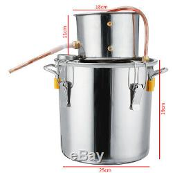 3GAL/12L Distiller Copper Moonshine Ethanol Alcohol Water Distiller Still Stainl