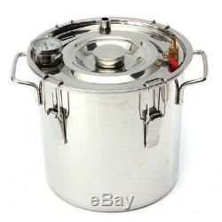 3GAL 12L Water Wine Alcohol Distiller Moonshine Water Still DIY Stainless Boiler