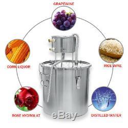 3Gal/11L Wine Alcohol Water Distiller 3Pot Moonshine Still Boiler Copper Home
