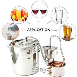 3POT 5Gal Wine Alcohol Water Distiller Moonshine Still Boiler Stainless Copper