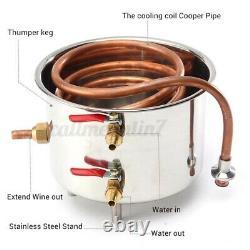 5/12/20L Copper Distiller Moonshine Ethanol Alcohol Water Still 5L Brew Beer Keg