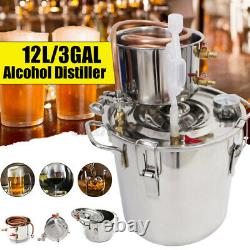 5/12L 3 Gal Moonshine Still Spirits Kit Water Alcohol Distiller Brewing Beer Keg