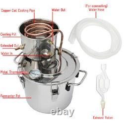 5/8Gal/20/35L Distiller Moonshine Ethanol Alcohol Still Water Boiler Thumper Ke