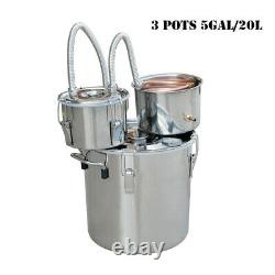 5/8Gal Copper Distiller Moonshine Still Ethanol Alcohol Water Still Boiler UK