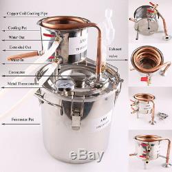 5 GAL/20L DIY Home Distiller Moonshine &Copper Still Spirits Alcohol Oil Brew