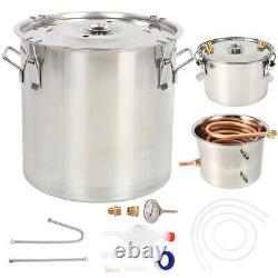 5 Gal(20L) Copper Alcohol Moonshine Ethanol Still Spirits Boiler Water Distiller