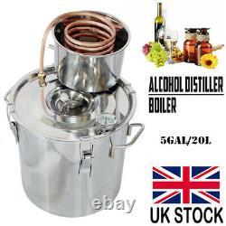 5 Gal Alcohol Distiller Moonshine Copper Still Wine Making Spirits Water Boile