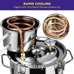 5 Gal Moonshine Still Spirits Kit Copper Distiller Alcohol Water Still Boiler UK