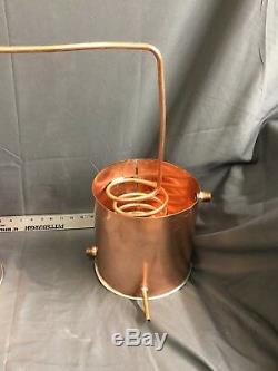 5 Gallon Copper Moonshine Still-Thumper and FlakeStand