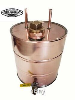 5 Gallon Copper Moonshine Thumper Keg Doubler with 2 Fruit Port