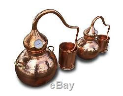 5 Gallon Copper Whiskey / Moonshine Still, Alembic, Ethanol, Essential Oils