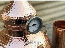 5 Gallon Pure Copper Alembic Still for whiskey, moonshine essential oils by C