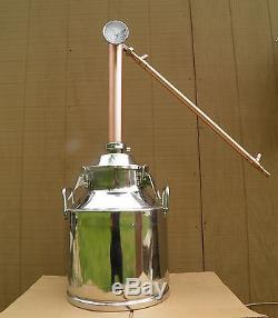 5 Gallon Still with 2 Copper Whiskey Column, Moonshine Still, Whiskey Still