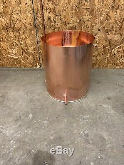 50 GALLON AUTHENTIC COPPER MOONSHINE STILL with THUMP KEG & WORM Electric Or Fire