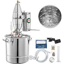 50L 13 Gal Water Wine Alcohol Distiller Moonshine Still Boiler Stainless Copper