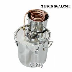 5GAL 20 Litres Copper Distiller Moonshine Ethanol Alcohol Water Still Boiler UK