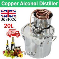 5GAL 20L Copper Distiller Moonshine Ethanol Alcohol Water Still Boiler Home UK