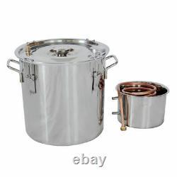 5GAL 20L Copper Distiller Moonshine Ethanol Alcohol Water Still Boiler UK STOCK