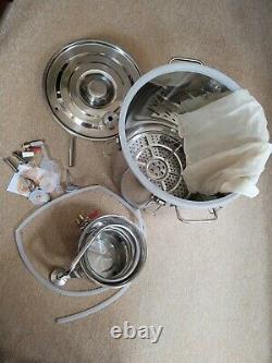 5GAL 20L Copper Distiller Moonshine Still Ethanol Alcohol Water Still Boiler UK