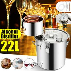 5GAL/22L Alcohol Moonshine Water Distiller Spirits Copper Home Stainless