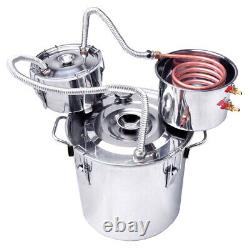 5GAL Alcohol Moonshine Still Brewing Distiller Distilling kit Copper Tube Boiler