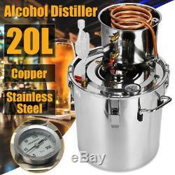 5Gal 20L Copper Alcohol Distiller Moonshine Ethanol Still Spirits Boiler Water