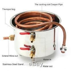 5Gal 20L Copper Alcohol Moonshine Ethanol Still Spirits Boiler Water Distiller
