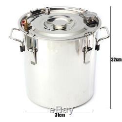 5Gal(20L) Copper Alcohol Moonshine Ethanol Still Spirits Boiler Water Distiller