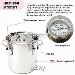 5Gal Copper Still Water Distiller Alcohol Moonshine Stainless Boiler