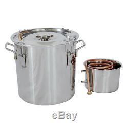 5Gallon Alcohol Distiller Stainless Steel Moonshine Copper Still Home Brew Kit
