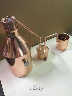 6 Gallon Copper Moonshine Still+Thumper+Worm-Heavy 20oz Copper Private Listing