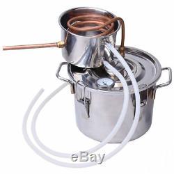 8/10/18/30L DIY Alcohol Distiller Moonshine Ethanol Copper Still Stainless UK