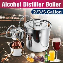 8/10/20/22/35L Alcohol Distiller Copper Moonshine Ethanol Water Still Win